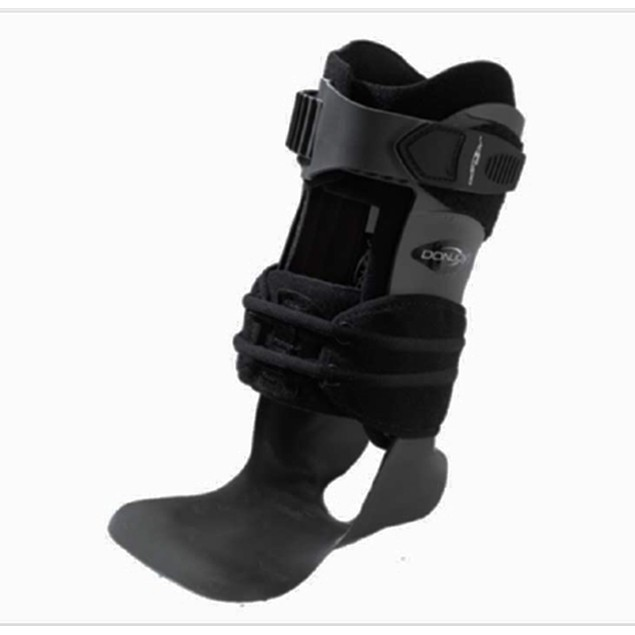 DJO Ankle Support MS, Wide Calf Cuff, Right Ankle, Large, Black