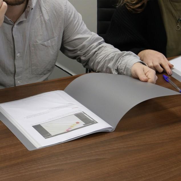 Set of 6 A4 Display Folder | Pukkr Grey