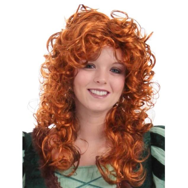 Forest Princess Womens Wig Merida Brave Red Auburn Disney Pixar Movie