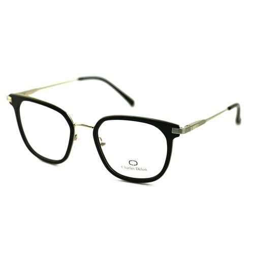Charles Delon Women's Eyeglasses MK003 C1 Black/Silver 51 20 140 Square Plastic