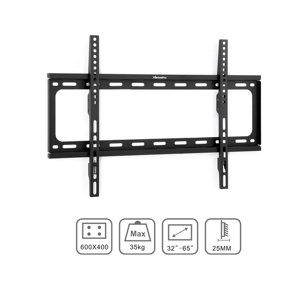 "TV Wall Mount Bracket Low-Profile Slim Fixed fits Flat Screen 32"" - 65"" in"