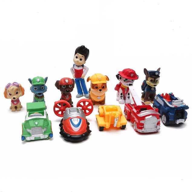 PAW Patrol Dog Rescue Toys For Kids Collection 12 pcs
