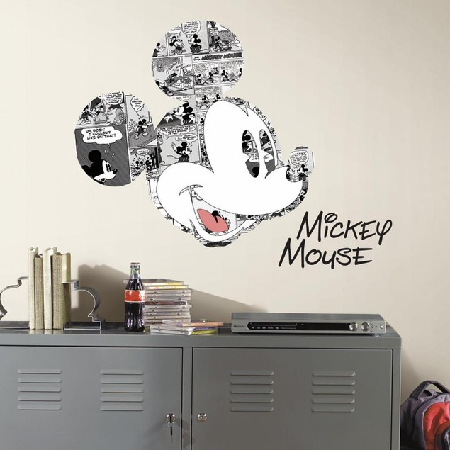Roommates Baby Room Wall Decor Disney Mickey Mouse Comic Wall Graphics