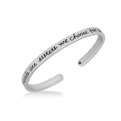 """Silver """"Girlfriends"""" Cuff Bracelet"""