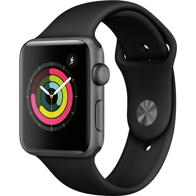 Apple Watch Series 3 42mm, Unlocked, Grade B+, Gray, 16 in, 1.65 in Screen