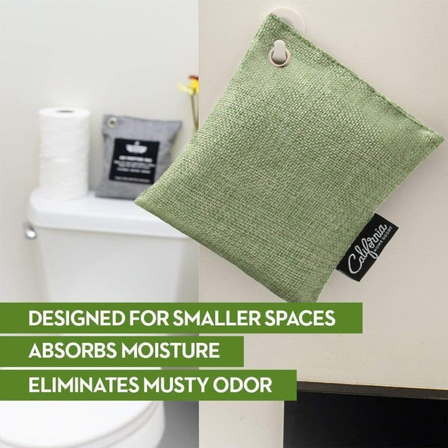 9-Pack California Home Goods Bamboo Charcoal Air Purifying Bags Bundle