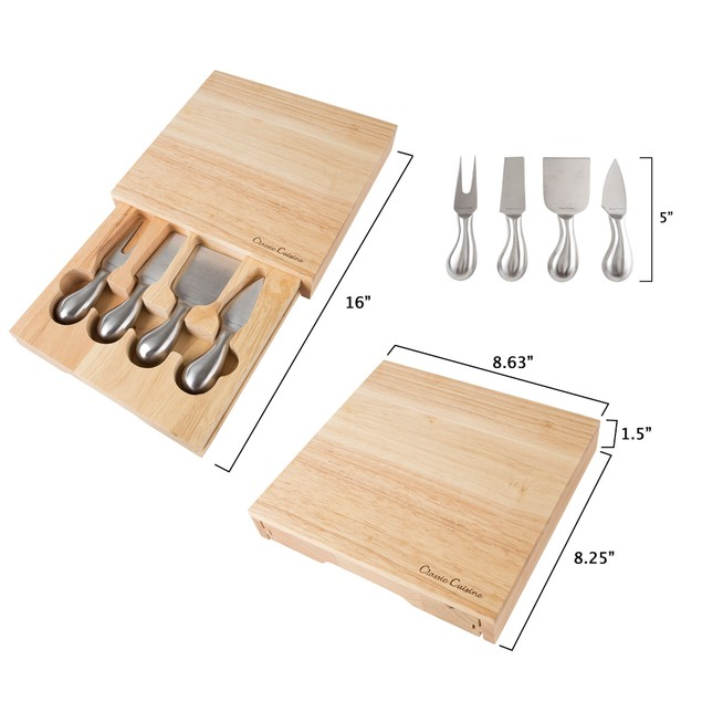 Cheese Board 5 piece Set with Tools