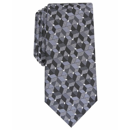 Alfani Men's Slim Geo Tie Black - Size Regular
