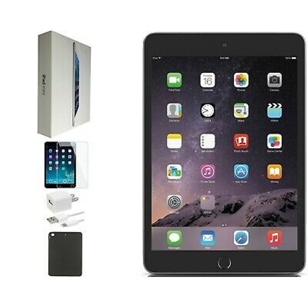 Apple iPad Mini 3 64GB Unlocked Cellular + WiFi Bundle