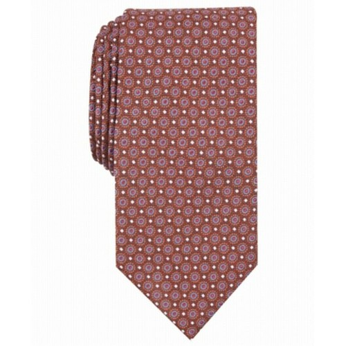 Perry Ellis Men's Bratton Classic Neat Tie Orange Size Regular