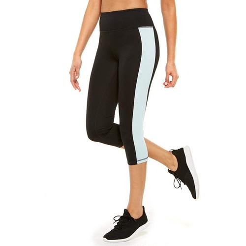 Ideology Women's Colorblocked Cropped Leggings  Blue Size Large