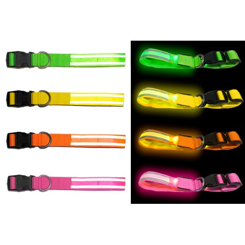 Bagoo LED Reflective Collar - Make You Pet Safe at Night