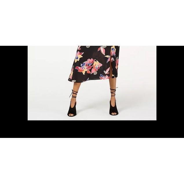 Trixxi Junior's Faux Wrap Midi Dress Black Size X-Small