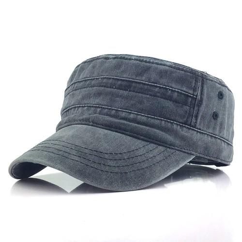 Flat-top Washed Old Men's Hat