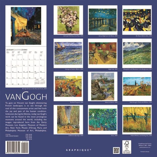 Van Gogh Wall Calendar, Fine Art by Graphique De France