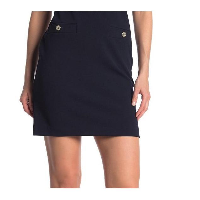 Tommy Hilfiger Women's Scuba Crepe Grommet Top Pocket Dress Black Size 16