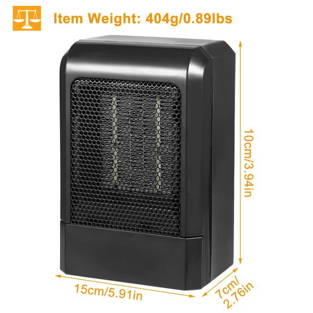 500W Portable Electric Heater PTC Ceramic Heating Fan