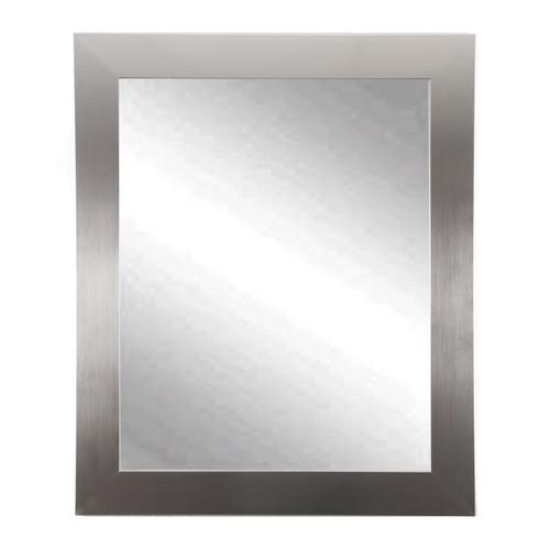 """BrandtWorks Perfect Durable Nickel Silver Vanity Mirror - 32"""" x 38"""""""