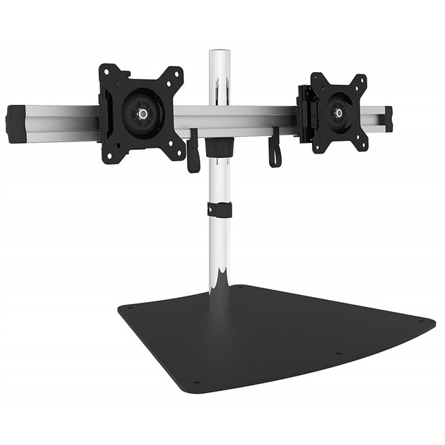 "Free Standing Desk Dual Monitor Mount 15""- 24"" Adjustable"