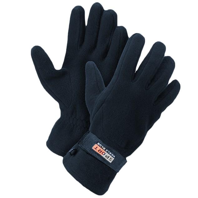 3-Pairs Men's Fleece Lined Adjustable Warm Winter Gloves