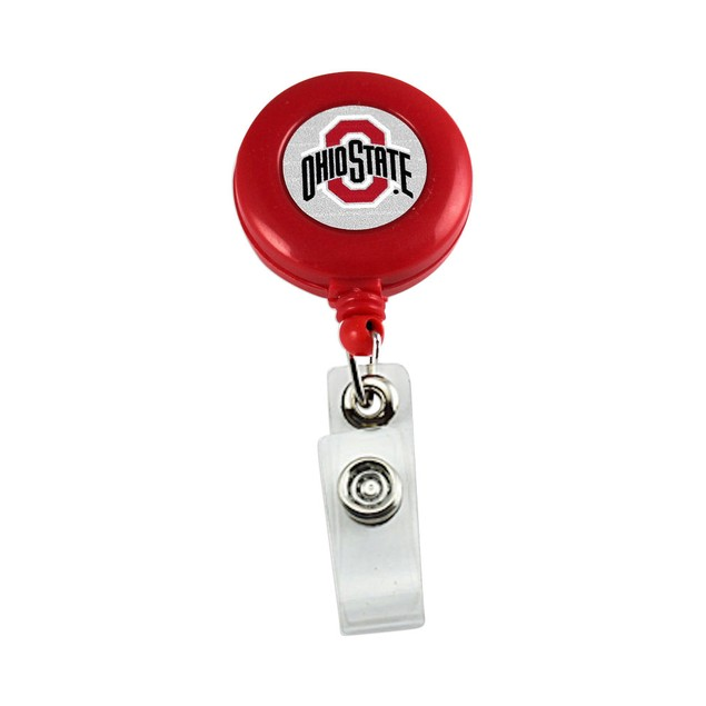 NCAA Ohio State Buckeyes Retractable Badge Reel Id Ticket Clip Red
