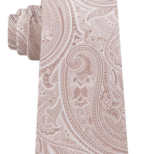 Michael Kors Men's Paisley Tie Med Beige Size Regular