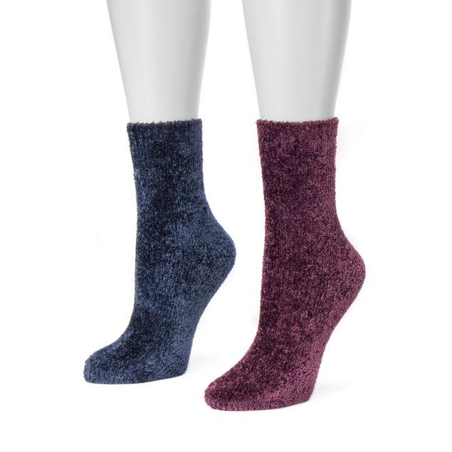 MUK LUKS ® Women's 2 Pair Pack Chenille Boot Socks