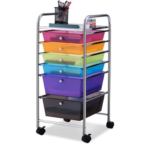 Costway 6 Drawer Rolling Storage Cart Tools Scrapbook Paper Office School O
