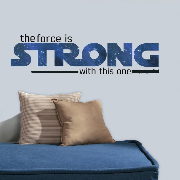 Roommates Wall Decor Star Wars Strong Quote Peel and Stick Wall Decals
