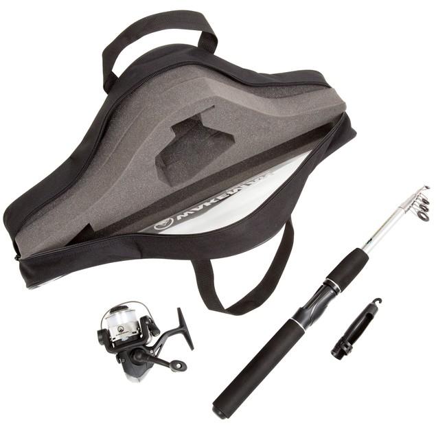 Wakeman Ultra Series Telescopic Spinning Rod and Reel Combo - Black