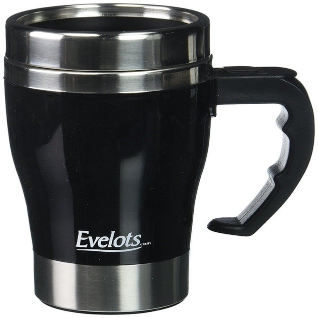 Self Stirring Travel Mug, Self Stainless  Coffee Cup, Black