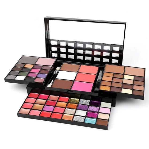 74 Colors Eye Shadow Blush Lip Gloss Concealer Glitter Sequin Makeup Box Set