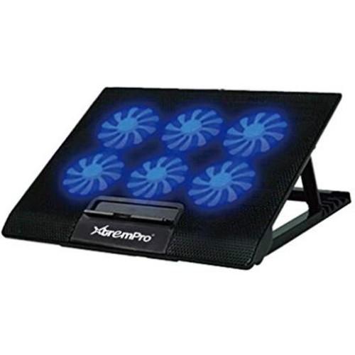 6 Speed Laptop Cooling Pad 6 Fans w/ Blue LED & 2 USB PORT