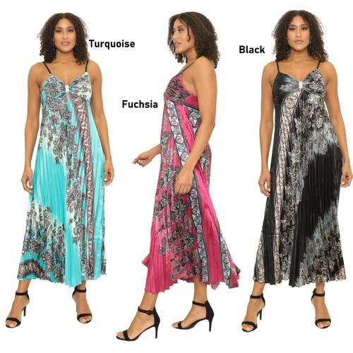 Women's Ankle Length Flowy Maxi Dress