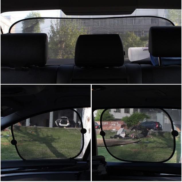 5Pcs Car Accessories Mesh Sunshade, Heat Insulation, Sun Block, Rear Block, Side Block