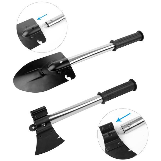 6-in-1 Multi Tool Survival Kit Shovel Knife Axe Saw Nail Puller