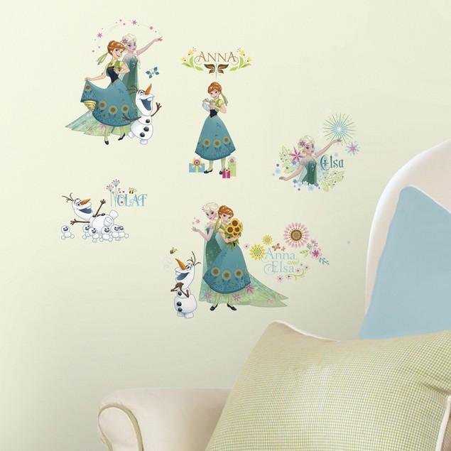 Roommates Nursery Baby Room Wall Decor Disney Frozen Fever Wall Decals
