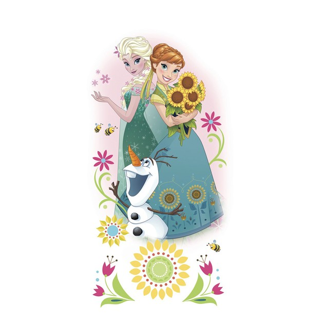 Roommates Wall Decorative Disney Frozen Fever Group Giant Wall Graphics