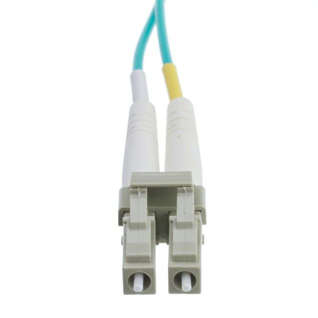 10 Gigabit Aqua OM4 Fiber Optic Cable, (3.3 foot)