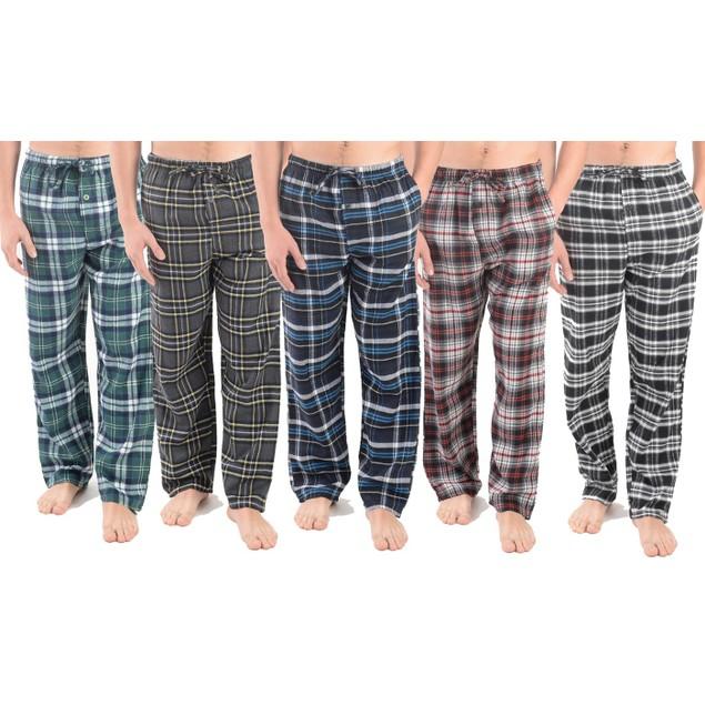 3-Pack Men's Assorted Cotton-Blend Flannel Lounge Pants (M-2X)