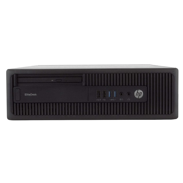 "HP 800G2 Desktop Intel i5 4GB 2TB HDD Windows 10 Professional 24"" Monitor"