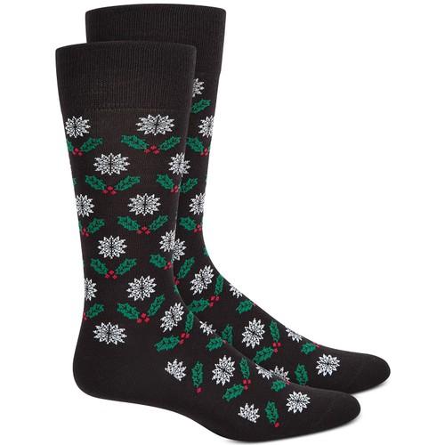 Alfani Men's Mistletoe Socks Black Size Regular