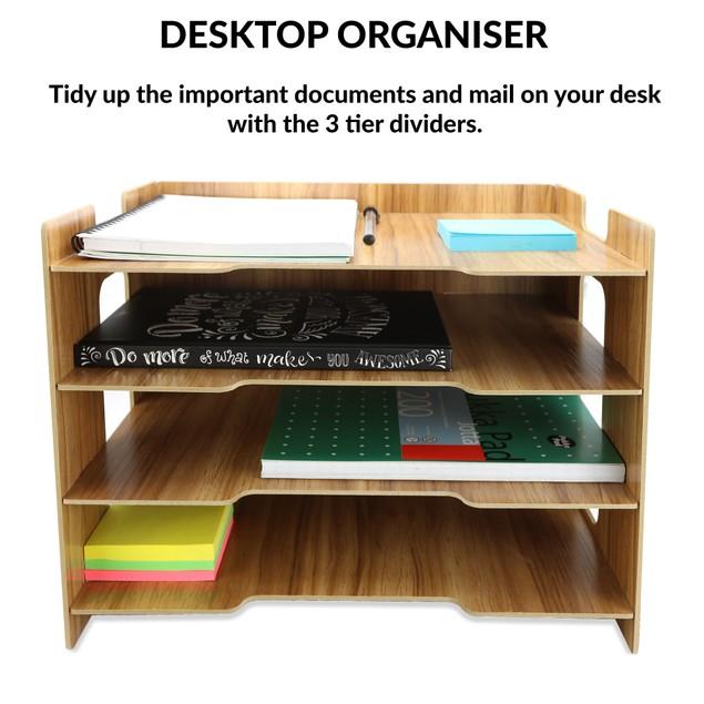 Wooden Desk Organiser | Pukkr Rectangle