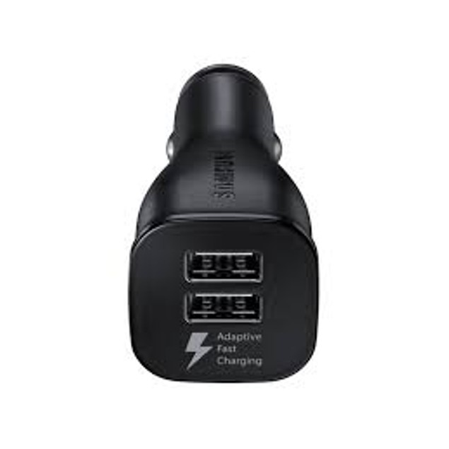 Samsung Fast Charge Dual-Port Car Charger Black - Retail Packaging