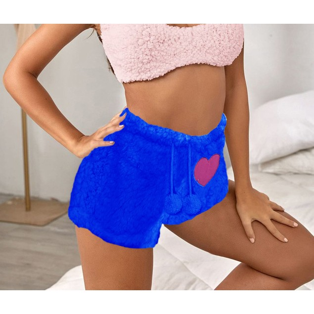 6-Pack: Women's Super Soft Ultra Plush Cozy Sherpa Shorts