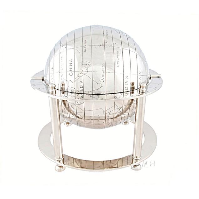 Old Modern Handicrafts Aluminium Spinning Globe Model