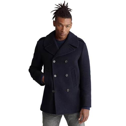 Polo Ralph Lauren Men's Wool Blend Peacoat Navy Size 42