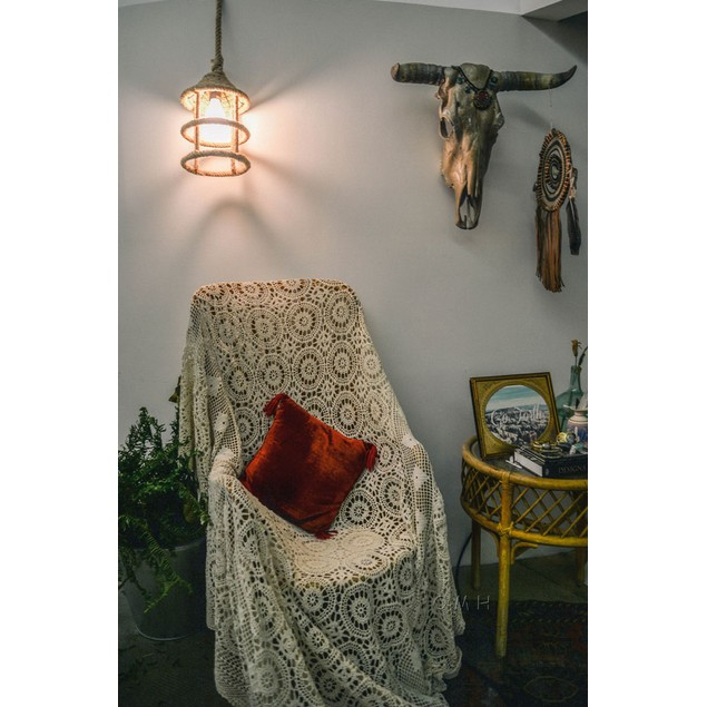 Old Modern Handicrafts Rope Pendant Lamp