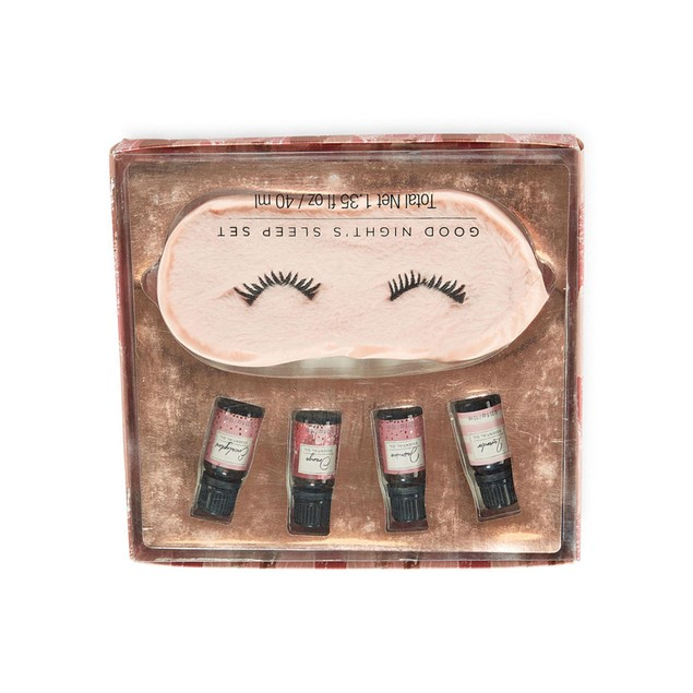 Mixit Essential Oil and Eye Mask Set w/ 4 Types of Special Oil for Women,