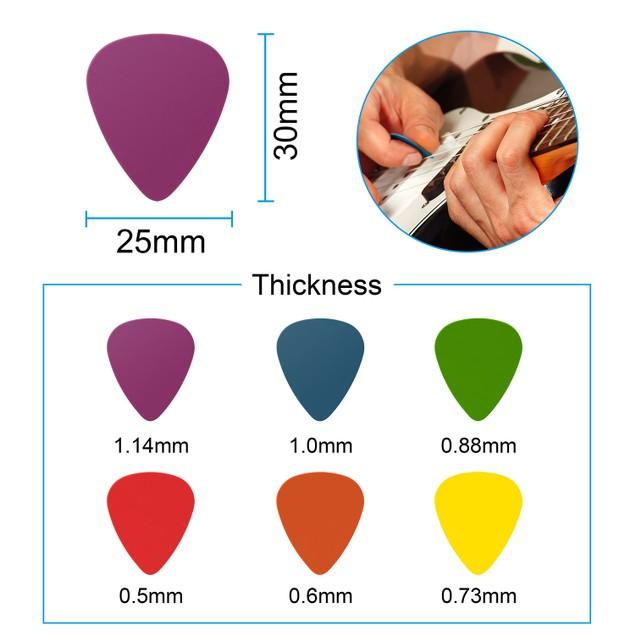 Standard Acoustic Electric Plectrums Guitar Picks 12-Pack
